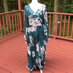 NWT! City Chic L/20 jade floral high low dress
